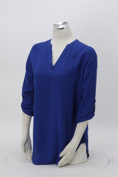 Poly Crepe 3/4 Sleeve Tunic - Ladies' 360 View