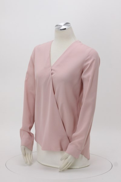 Poly Crepe Crossover Blouse - Ladies' 360 View