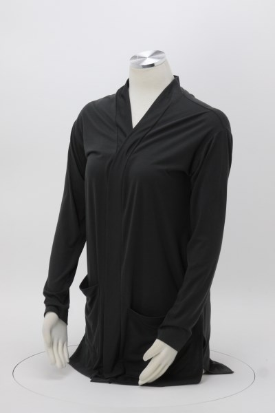 Long Length Cardigan with Pockets - Ladies' 360 View