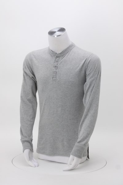 J. America Brushed Jersey Henley 360 View