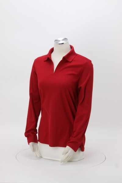 CrownLux Performance Plaited LS Polo - Ladies' 360 View