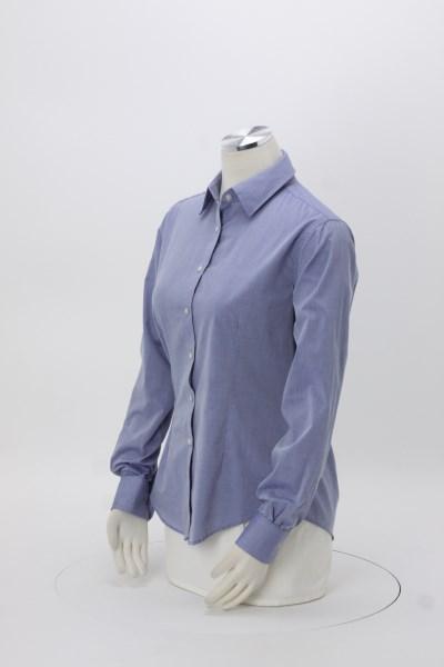 Van Heusen Chambray Spread Collar Shirt - Ladies' 360 View