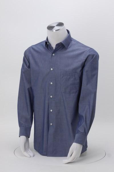Van Heusen Chambray Spread Collar Shirt - Men's 360 View