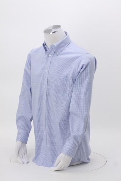 Van Heusen Blue Suitings Non-Iron Patterned Shirt 360 View