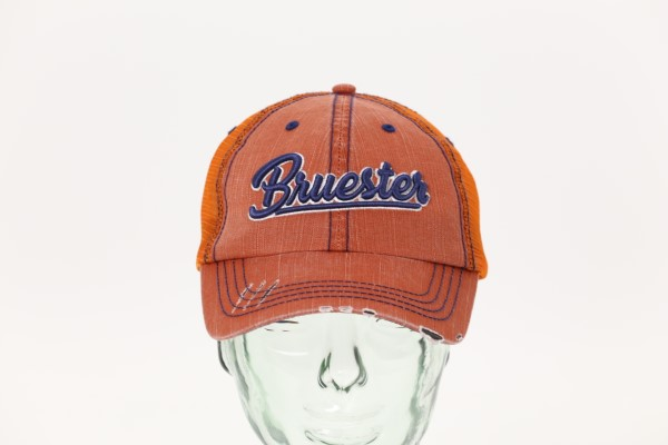 Mega Herringbone Contrast Stitch Cap - 3D Puff Embroidery 360 View