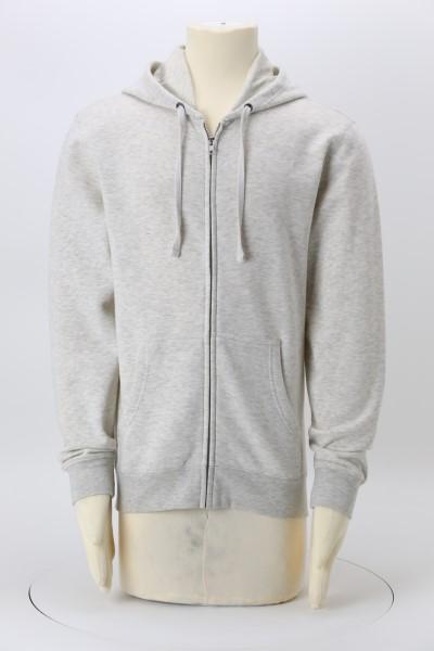 Ultimate 8.3 oz. CVC Fleece Full-Zip Hoodie - Embroidered 360 View