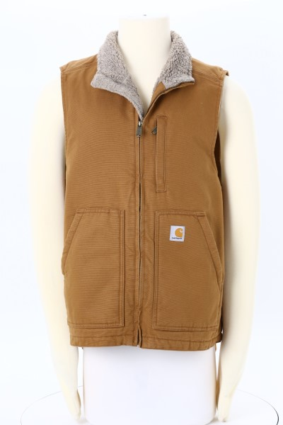 Carhartt Washed Duck Sherpa Lined Vest 360 View