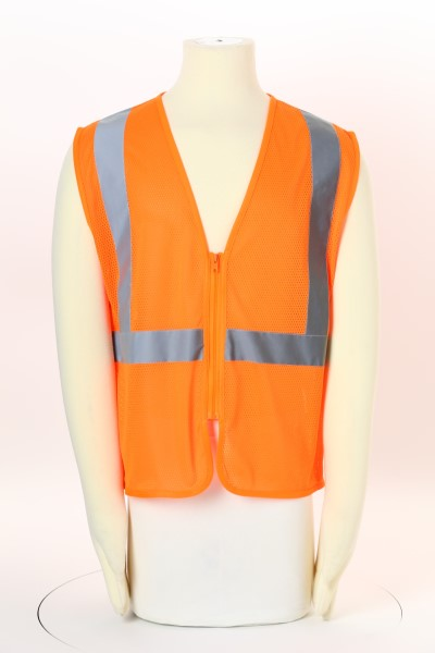 Reflective Zippered Vest 360 View