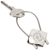 View Image 1 of 3 of Perspective Keychain - Square