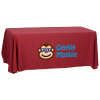 View the Open-Back Polyester Table Throw - 6'