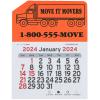 View Image 1 of 2 of Peel-N-Stick Calendar - Semi Truck