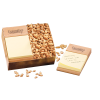 Beech Post-it® Note Holder with Peanuts