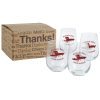 Stemless White Wine Glass Set - 17 oz.