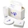 Snack Pack - Plastic Plate/Cup and Napkin Set