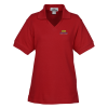 Venice 60/40 Blend Pique V-Neck Polo - Ladies'