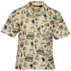 Tropical Print Camp Shirt