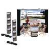 Standard Curved Floor Display - 10' - Mural Center - Kit