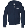 Jerzees NuBlend Full-Zip Hooded Sweatshirt - Youth - Screen