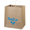"Kraft Paper Brown Eco Shopping Bag – 15-1/2"" x 14"""