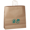 "Kraft Paper Brown Eco Shopping Bag – 18-3/4"" x 18"""