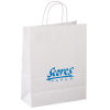 "Kraft Paper White Shopping Bag – 13"" x 10"""