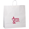 "Kraft Paper White Shopping Bag – 18-3/4"" x 18"""