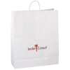"Kraft Paper White Shopping Bag – 19-1/4"" x 16"""