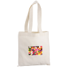 "Cotton Sheeting Natural Economy Tote - 12-1/2"" x 12"" - Full Color"