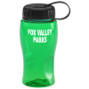 Poly-Pure Lite Bottle with Tethered Lid - 18 oz.