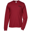 Hanes Tagless LS Pocket T-Shirt - Screen - Colors