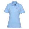 View Image 1 of 2 of Jerzees SpotShield Button Jersey Shirt- Ladies' - Embroidered