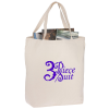 Oversized 12 oz. Cotton Canvas Tote Bag - Natural