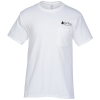 Hanes Tagless Pocket T-Shirt - Screen - White