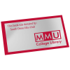 View Image 1 of 2 of Tamper Evident Chrome Sticker - S