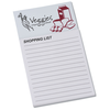 Bic Business Card Magnet with Notepad - Grocery List