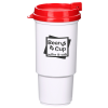 Insulated Auto Tumbler - 16 oz. - White