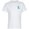 Hanes Tagless T-Shirt - Youth - Embroidered - White