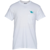Gildan 5.5 oz. DryBlend 50/50 Pocket T-Shirt - Screen - White