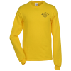 Adult 5.2 oz. Cotton Long Sleeve T-Shirt - Screen