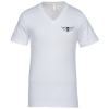 Bella+Canvas V-Neck T-Shirt - Men's - White - Screen