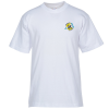 Bayside USA Made T-Shirt - White - Embroidered