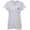 Bella+Canvas V-Neck Jersey T-Shirt - Ladies' - White - Embroidered