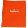 3 Prong Twin Pocket Presentation Folder - Translucent