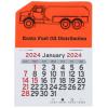 View Image 1 of 2 of Peel-N-Stick Calendar - Propane Truck