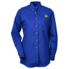 Soil Release Button Down Poplin Shirt - Ladies'