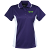 Tipped Color Block Wicking Polo - Ladies'
