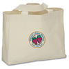 USA Made Bayside Medium Gusset Tote - Natural - Embroidered