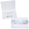 Silver Snowflakes in Snow Greeting Card