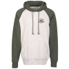J. America Vintage Heather Hooded Sweatshirt - Embroidered