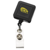 Economy Retractable Badge Holder - Square - Opaque - 24 hr